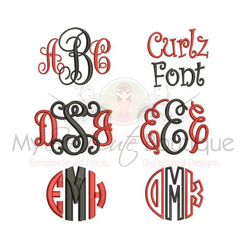 EMBROIDERY FONT PACK  My Sew Cute Boutique have optimized all of these designs, reducing the stitch count and reducing the stitch time. All of
