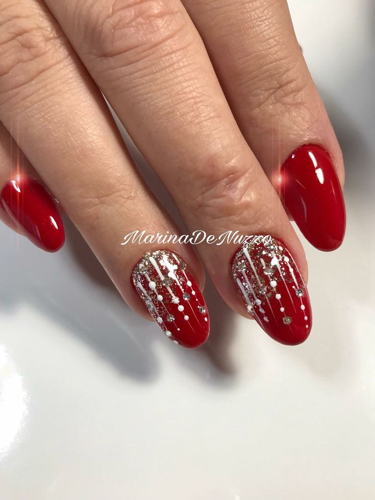 beautiful red nail design