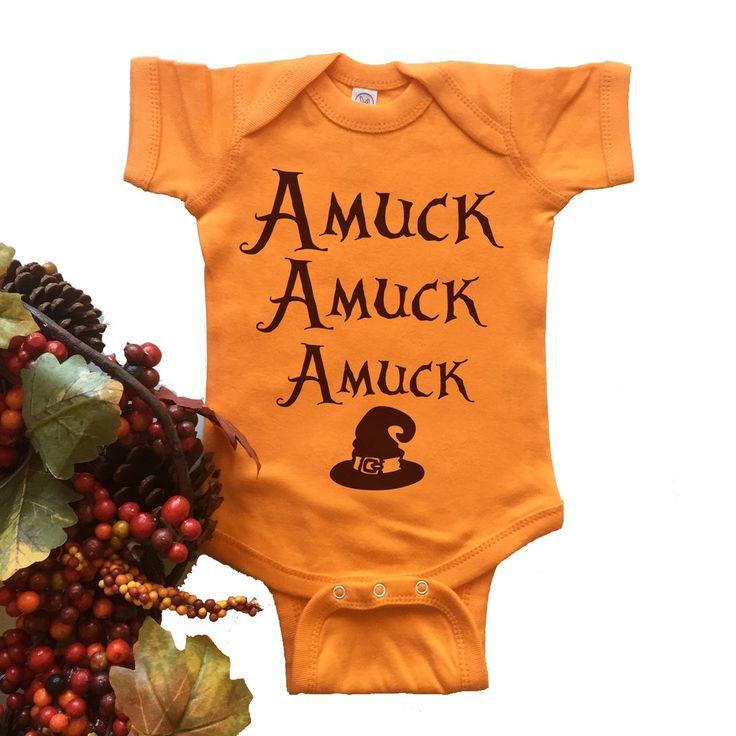 Amuck Onesie. Funny Hocus Pocus Baby Bodysuit