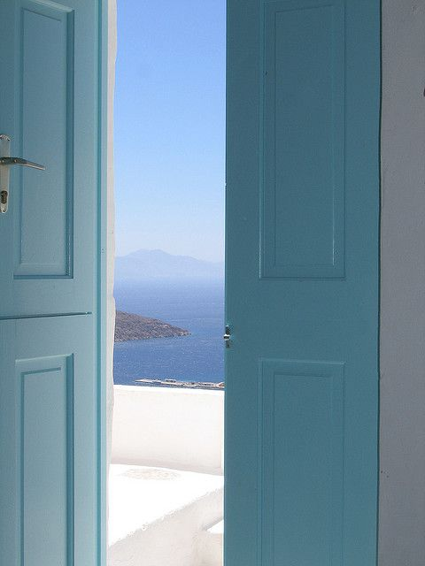 """"""" And the door opens . . .  . . . to what can only be adventure, and pure joy - What else do you get when you walk through turquoise doors? """"   ~ Kate, by the seashore"""
