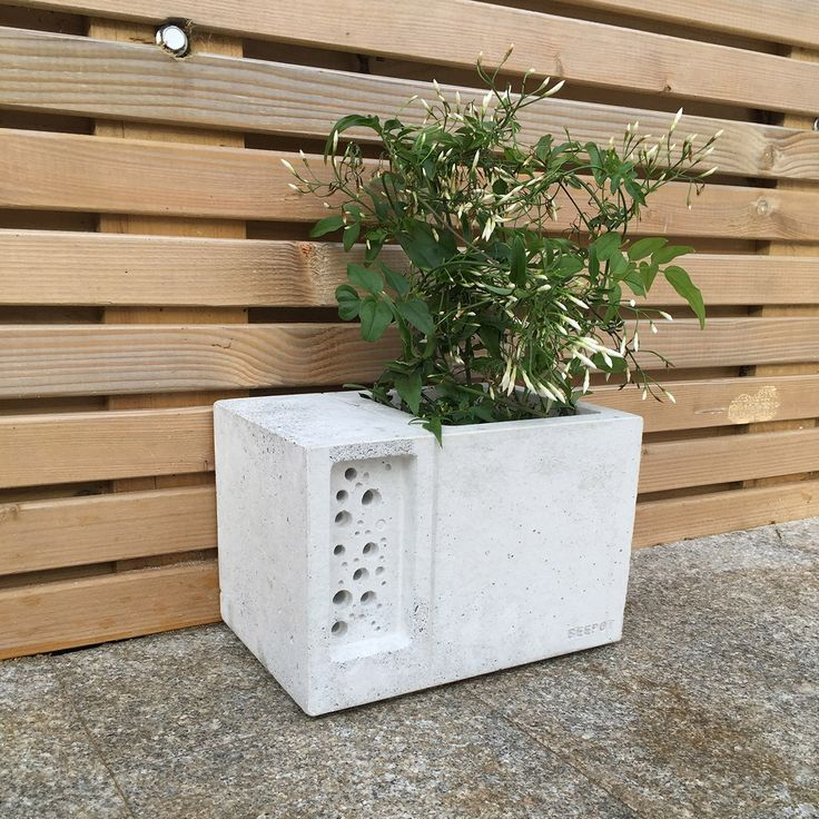 Superior The Beepot Bee Hotel Is A Beautiful Concrete Planter Inspired By The Award  Winning Bee Brick, Only This Time Weu0026 Added A Diner On The Bees Doorstep!