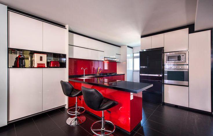 10 стильных открытой планировки кухни с прилавков полуострова в HDB квартир   Главная & Декор Сингапур