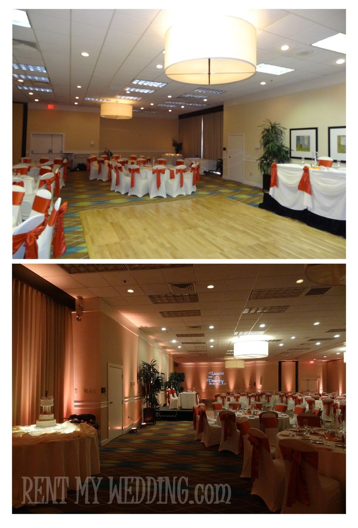 best wedding reception halls in nyc%0A A banquet hall is tranformed at the Holiday Inn  Universal Studios  Orlando   uplighting