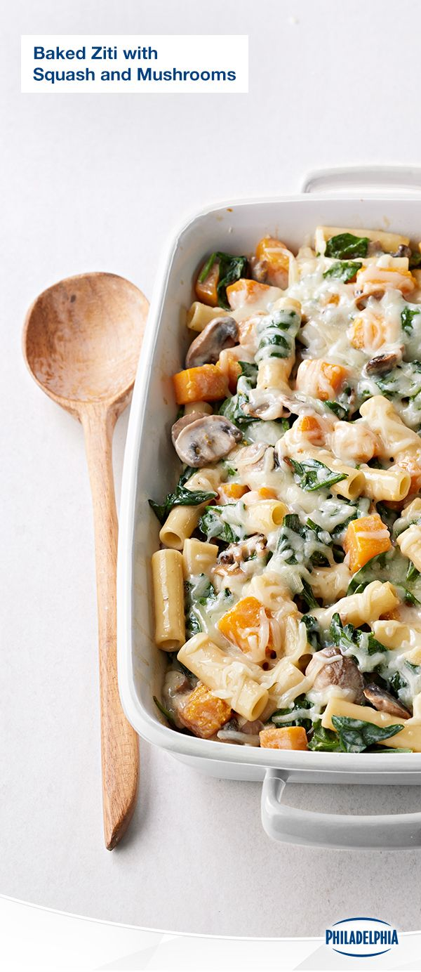 There's no going wrong with this classic casserole dish. Our Baked Ziti with Squash and Mushrooms is a heartwarming feast for four that one person could bake with their eyes closed. (Note: Don't bake with your eyes closed.) Check out the recipe.