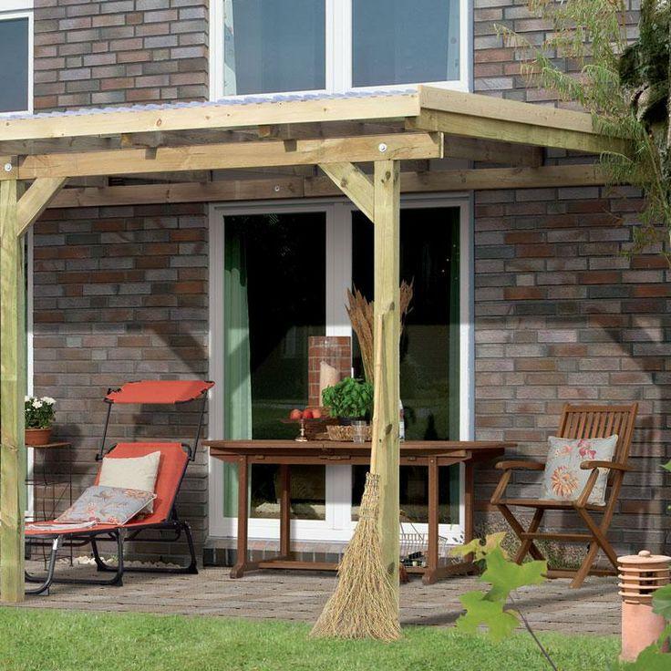 Toit de terrasse bois massif autoclave karibu 240 x 244 for Toit patio bois