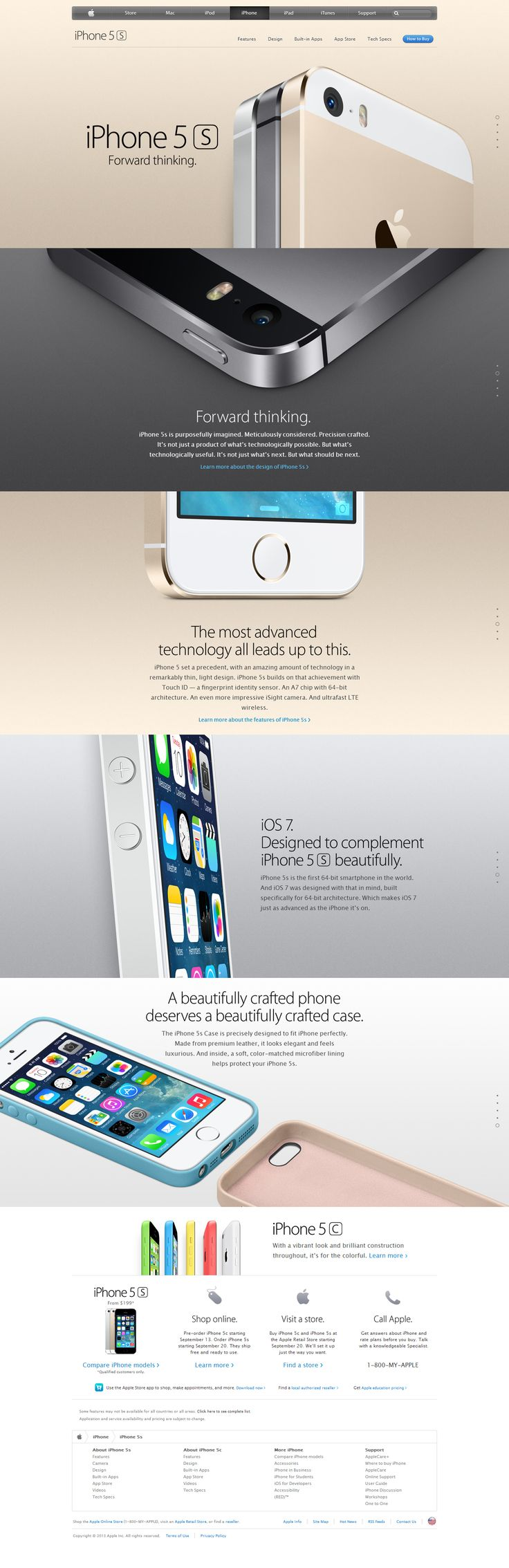 Saw the web design for this as per usual apple blows it out of the water with their marketing tactics and design. #iphone5s #iphone5c #teamiphone