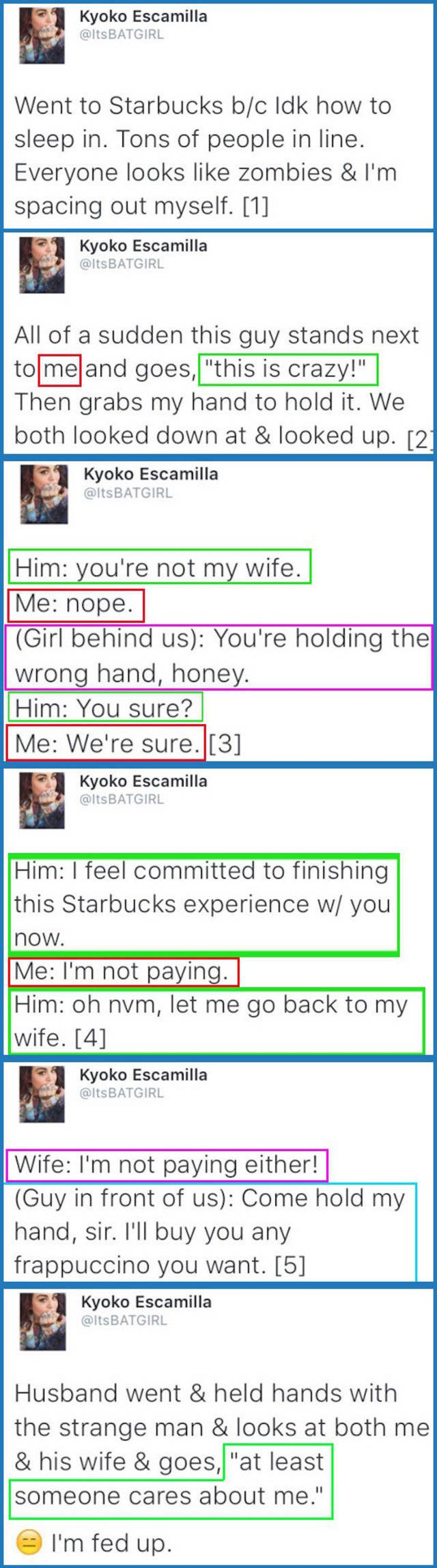 Something strange happened at Starbucks