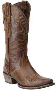 Ariat Women's Zealous Sandstorm Brown Wingtip Snip Toe Western Boots | Cavender's
