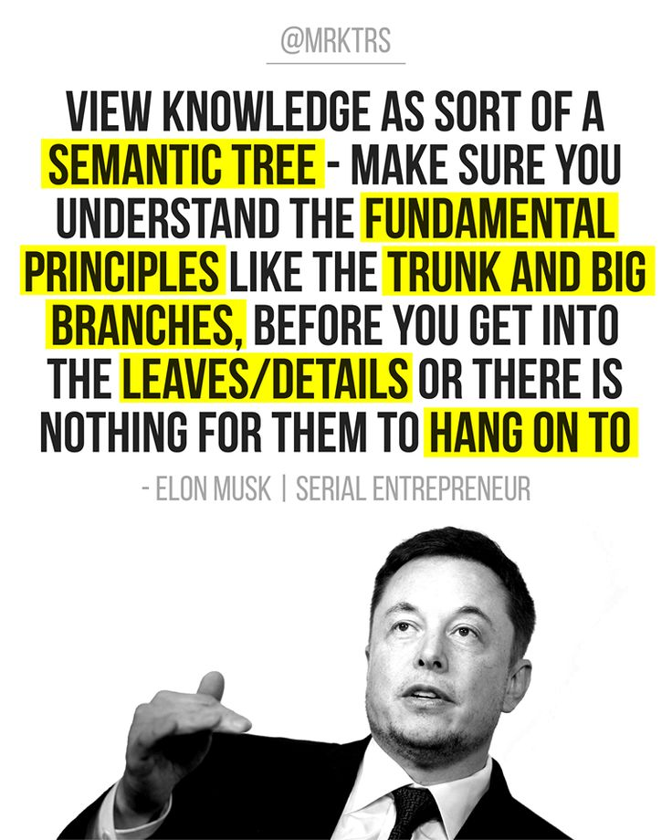 Elon Musk 🗣 View knowledge as a semantic tree