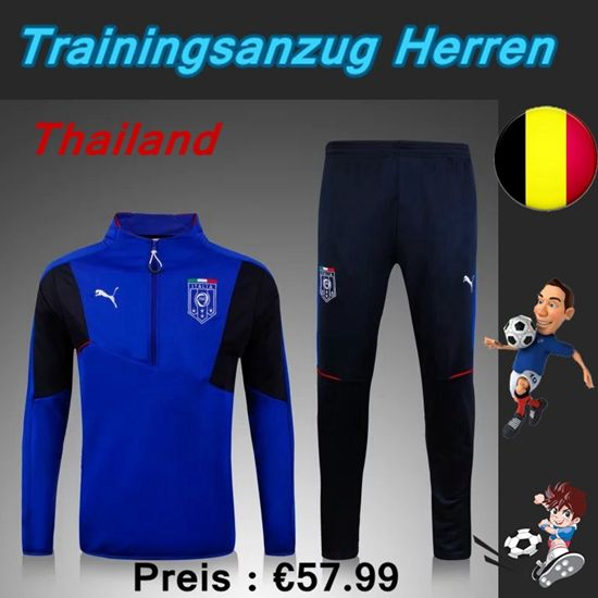 Brauch Neue Trainingsanzüge Fussball Herren Kits Italien Blau Seson 2015 2016 Deutschland Kaufen
