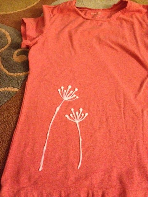 bleach pen shirt stencil | Another Pinterest Project! This time, a bleach pen designed t-shirt.