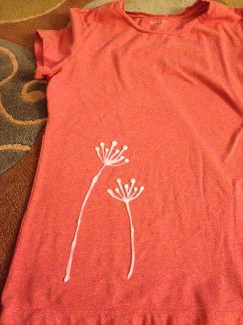 bleach pen shirt stencil | Another Pinterest Project! This time, a bleach pen designed t-shirt.
