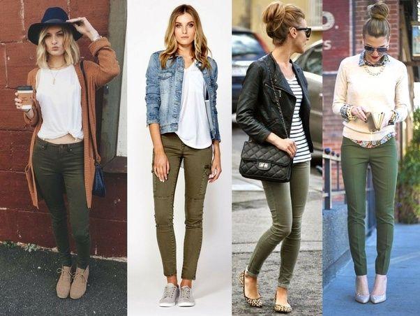 How To Wear Green Pants Ladies