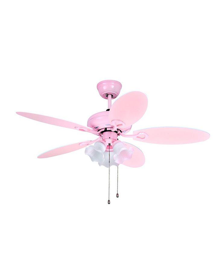 3 Lights Lovely Pink Ceiling Fan For Child Room
