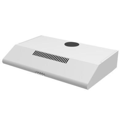 electriQ 60cm White Conventional Visor Cooker Hood - 5 Year Warranty