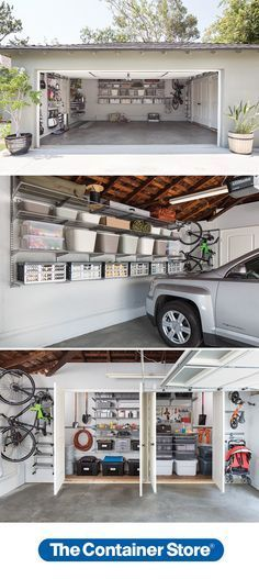 How much room do you have in your garage? elfa can get everything up off the floor, leaving plenty of room for your car!