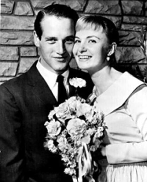 On January 29, 1958, Paul Newman and Joanne Woodward are married at The Little White Chapel in Las Vegas.