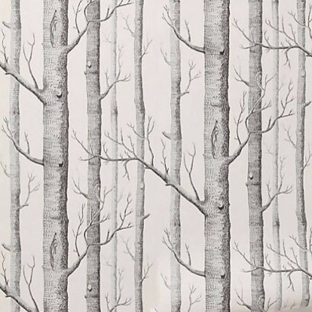Woodland wallpaper. A patterned wallpaper makes such a bold statement! Woodland inspiration for the home