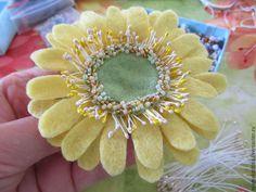 "Валяем цветок ""Гербера"" - Ярмарка Мастеров - ручная работа, handmade"