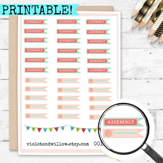 JW Convention Assembly Printable Planner by VioletandWillow