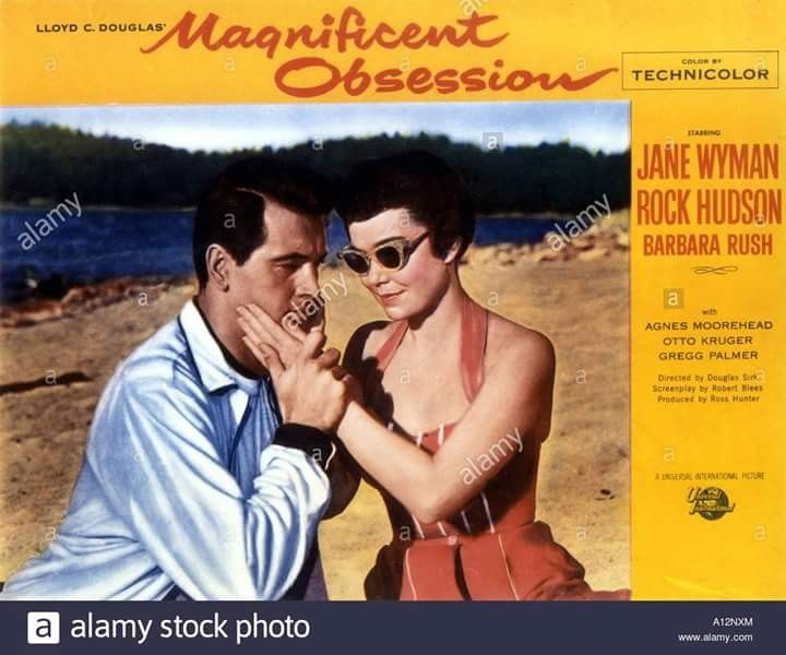 Magnificent obsession Jane Wyman Rock Hudson movie poster print