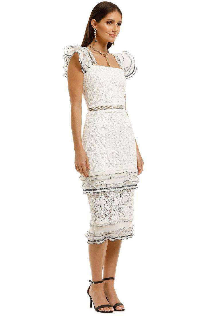 Esme dress in white by elliatt for hire glamcorner in