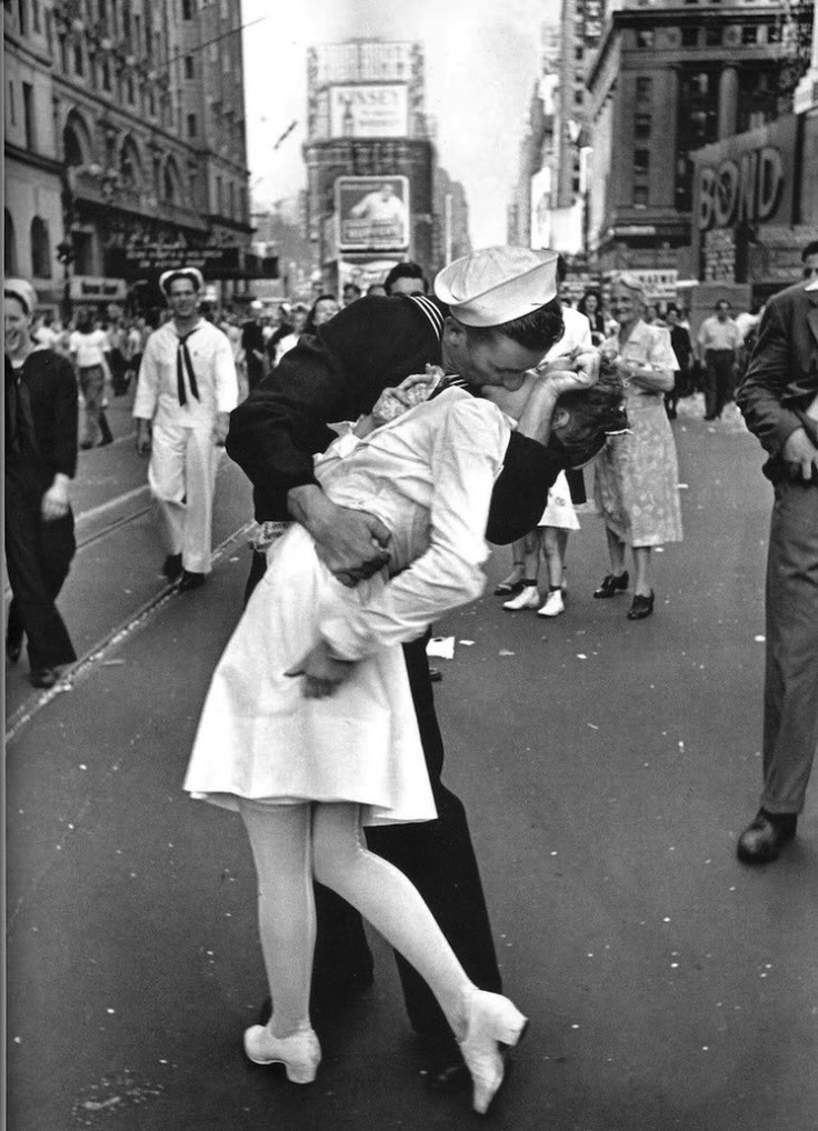 'The Kissing Sailor', by Alfred Eisenstaedt, Times Square, New York on August 14, 1945