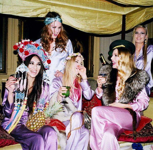 PJ PARTY?  Olivia Von Halle Silk Pyjamas for Midsummer's Night - Lulus.com Fashion Blog