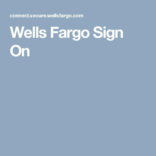 Wells FargoSign On