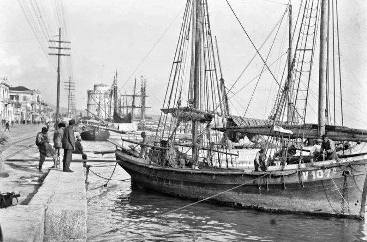 ΘΕΣΣΑΛΟΝΙΚΗ 1919 το λιμάνι και ο ΛΕΥΚΟΣ ΠΥΡΓΟΣ ...ΦΩΤΟΓΡΑΦΙΑ FREDERIK BOISSONNA