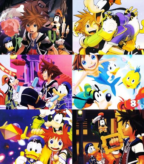 -Sora, Donald, And Goofy, Kingdom Hearts