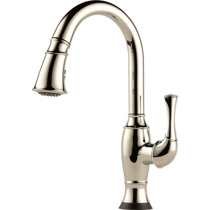 Brizo 64003LF PN Talo Single Handle SmartTouch Pull Down Spray Kitchen  Faucet 1.8 GPM