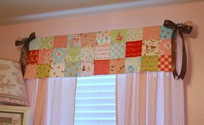 Love the quilt window treatment!: Kids Bedrooms, Patchwork Curtains, For Kids, Cute Ideas, Window Treatments, Sewing Rooms, Girls Rooms, Window Valances, Little Girls Bedrooms