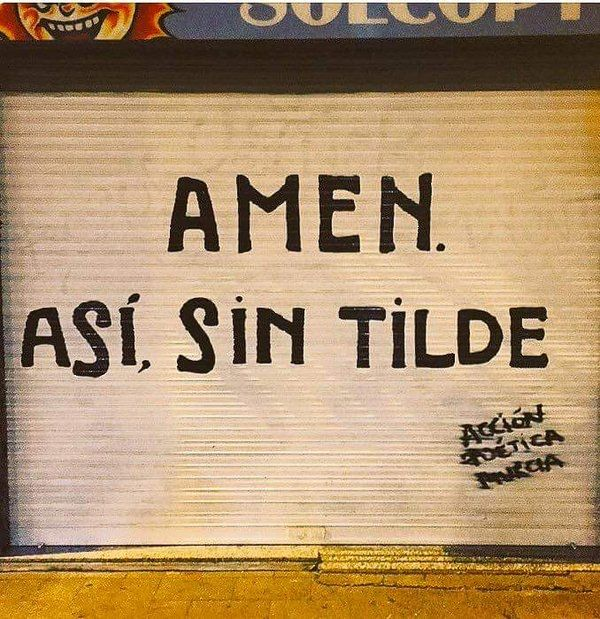 """""""AMEN. Así, sin tilde"""" #Acción Poética Murcia #calle"""