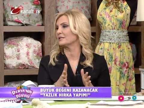 Derya Baykal-Deryanın Dünyası-Yazlık hırka yapımı ve Dekoratif tepsi boy...