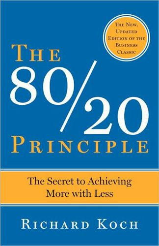 80 percent of results flow from just 20 percent of our efforts--is one of the great secrets of highly effective people and organizations.    One of the decade''s most original, provocative, and powerful books, The 80/20 Principle shows how you can achieve much more with much less effort, time, and resources, simply by concentrating on the all-important 20 percent.