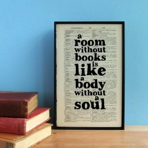 A Room Without Books Framed Book Page