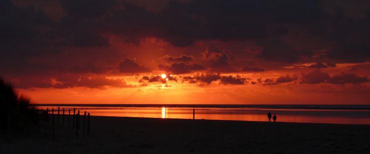 zonsondergang Strand Ouddorp 21-9-2012