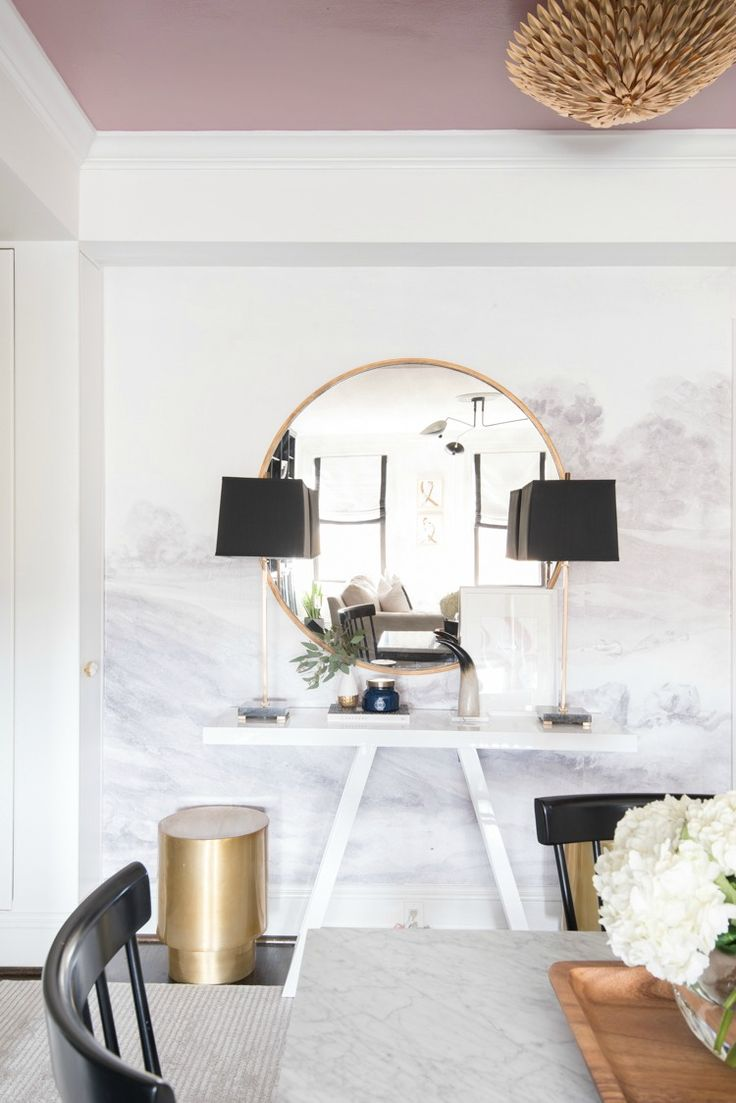 Dining Room Decorating Ideas  Dining table with a view of the foyer console  table. 608 best images about Dining Room Decorating Ideas on Pinterest