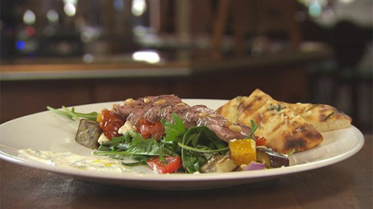 Chargrilled Lamb with Roasted Vegetable and Feta Salad