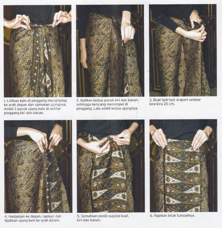 Tutorial Memakai Kain Batik Hanya dengan Dililit Saja. Tak Perlu Dijahit Dulu Pun Bisa