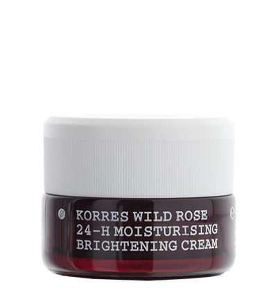 Wild Rose 24-hour moisturising & brightening cream - the first KORRES cosmetic and a global best-seller since its launch. For normal to dry skin