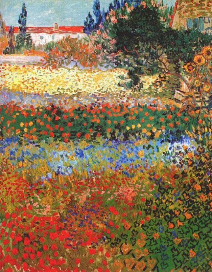 van gogh flowering garden 1888. Винсент ван Гог . Описание картины, скачать репродукцию.