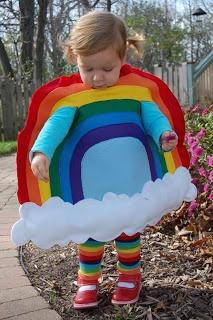 Arco-íris Costume em feltro