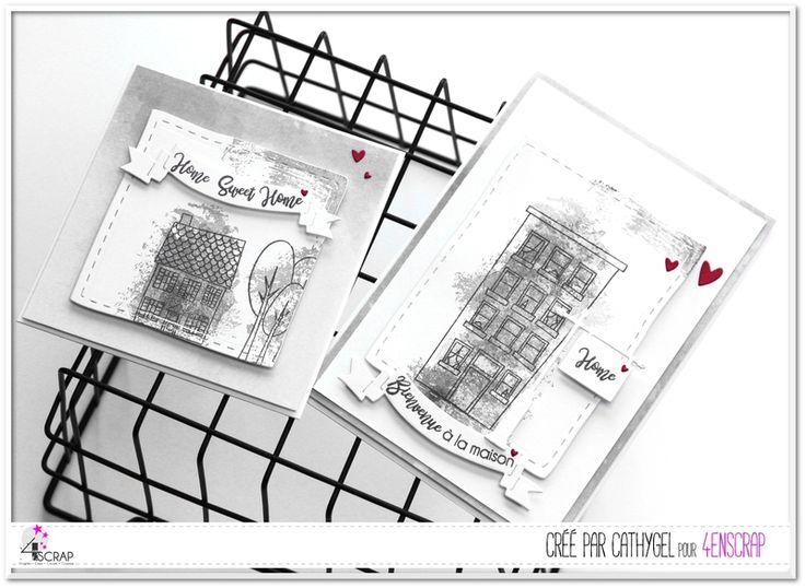 """Cathygel : Tampons et matrices de coupe (dies) #4enSCRAP """"Fonds aquarelle"""""""