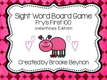 valentine's day sight word worksheets