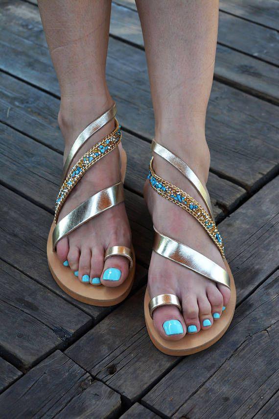 Sandali greci  Sandali d'oro ' Serena '  Sandali