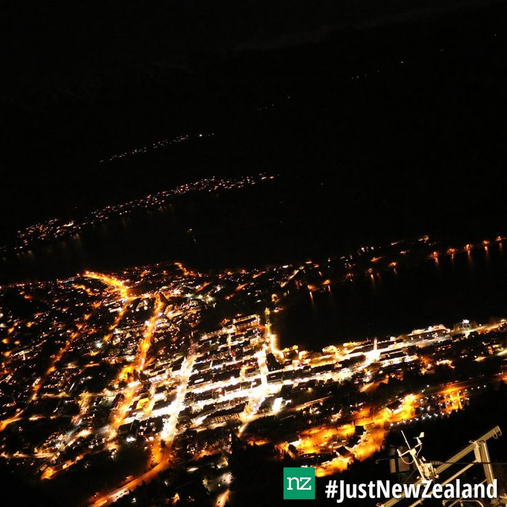 Queenstown by night #nz #queenstown #lights #JustNewZeland