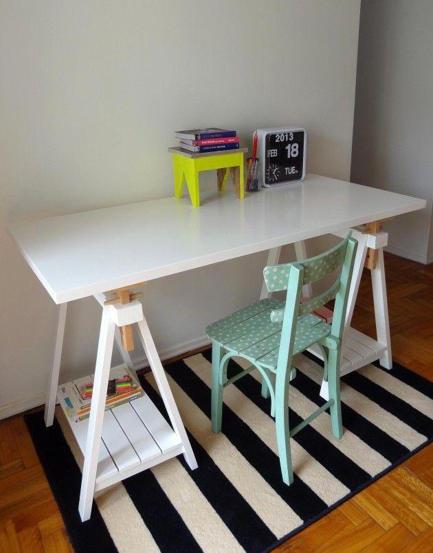 Carmaquina 185 crop escritorios mesas de trabajo - Mesa con caballetes ...