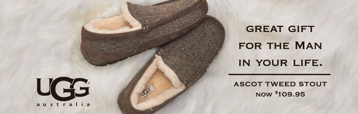 Mens Uggs will warm your man's feet this winter!